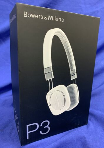 Bowers & Wilkins P3, Wired On-Ear Mobile Headphones, Case White/Grey-BRAND NEW