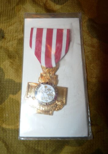 Florida National Guard Florida Cross Full Size Medal - New in Package