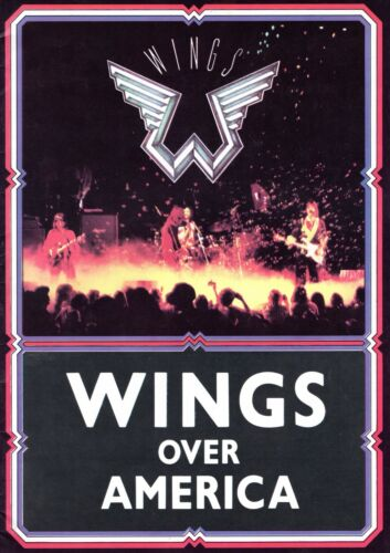 PAUL McCARTNEY 1976 WINGS OVER AMERICA TOUR CONCERT PROGRAM BOOK-NM TO MINT