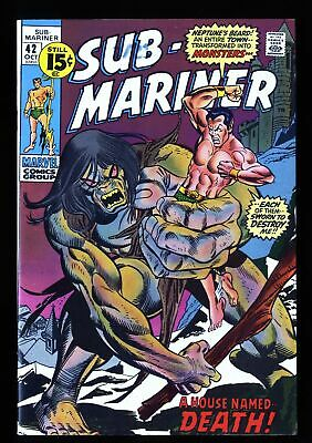 Sub-Mariner #42 VF- 7.5 Marvel Comics