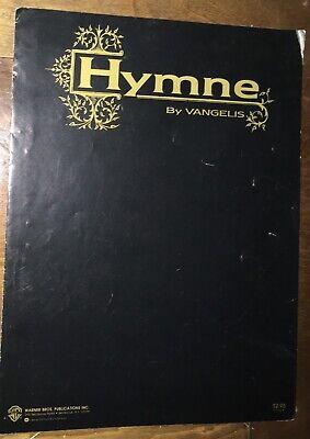hymne vangwlis sheet music 1986