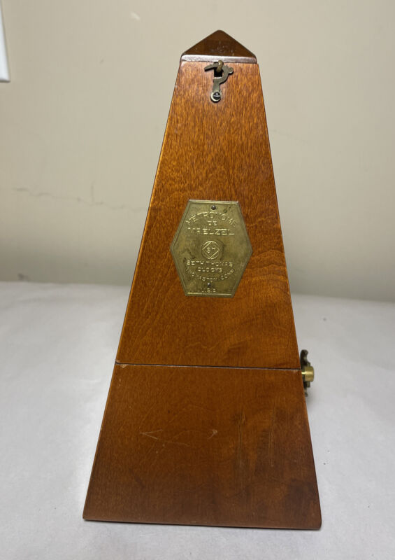 Vintage Metronome de Maelzel Seth Thomas Clocks  Made in U.S.A. Works NICE