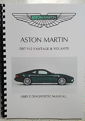 ASTON MARTIN DB7 V12 VANTAGE 99-03 OBD II DIAGNOSTIC MANUAL REPRINTED