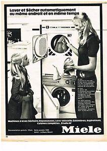 Publicite 1972 miele machine laver lave linge s che - Machine a laver sur seche linge ...