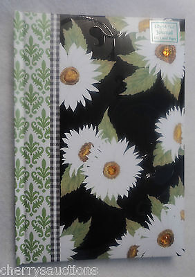 o DAISY gingham Blank Book Journal 192 lined pages hardcover diary LADY JAYNE
