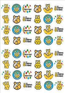 Children In Need Pudsey Bear Fairy Cake Toppers x 48