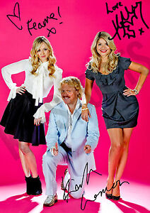 CELEBRITY JUICE SIGNED AUTOGRAPH  KEITH LEMON FEARNE COTTON  HOLLY WILLOUGHBY