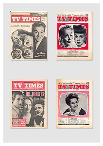 TV TIMES 1955-1962/ 188 ISSUES / 10 XMAS EDITIONS/FIRST  2 ISSUES EVER
