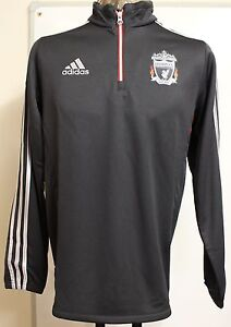 LIVERPOOL F.C.11/12 BOYS BLACK 1/4 ZIP TRAINING TOP BY ADIDAS 16 YEARS BRAND NEW