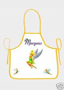 Tablier de cuisine enfant la fee clochette ref 08 personnalisable avec prenom ebay - Tablier de cuisine personnalisable ...