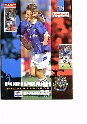 Portsmouth v Middlesbrough 1993/94 division 1