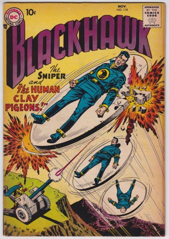 Blackhawk #118 VF-NM 9.0 Frank Frazetta Art DC War 1957!-