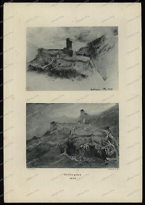 Druck-Stahlstich-Engraving-John-Ruskin-Bellinzona-1858-Allen & Co-39