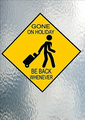 Holiday Fun Road Sign Australia Road Sign Novelty Fun Shop Sign Gone On Holiday ()