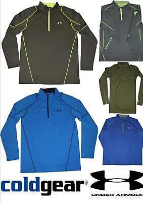 UNDER ARMOUR ColdGear® MEN'S FITTED Mock Neck Long Sleeve 1/4 Zip Tops