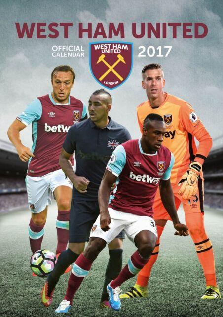 West Ham Official 2017 Calendar - Football A3 Wall Calendar 2017