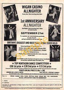 Northern Soul - Rare 'Wigan Casino' 1st Anniversary Allnighter Poster Reprint