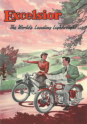 c1950 Excelsior Motorcycles poster
