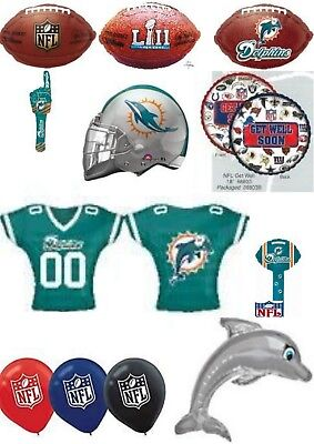 Miami Dolphins Party Decorations (Miami Dolphins NFL Helium Balloons Party Ware Decoration Novelty Gift)