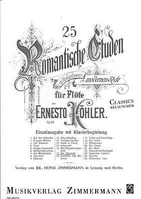Köhler - 25 Romantische Etüden op. 66 Nr. 15: Am Spinnrad für Flöte und Klavier