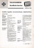 Servicio Manual De Instrucciones Para Telefunken Jubilate 1161 -  - ebay.es
