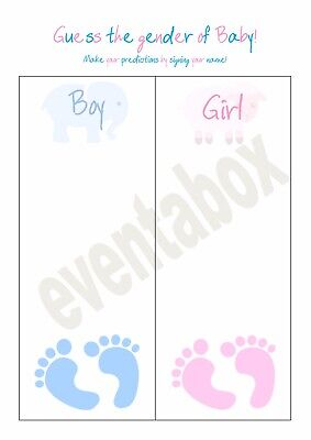 Baby Shower Game - Guess the gender boy or girl - Prediction game - 3 (Guess The Designer)