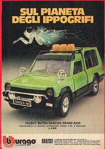 Pubblicita-Advertising-1981-BBURAGO-Talbot-Matra-Rancho-Grand-Raid