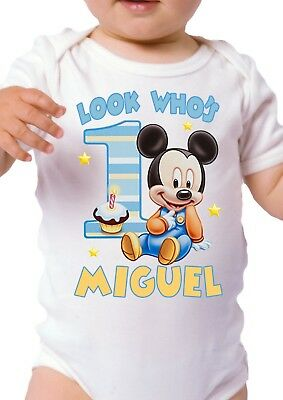 Mickey Mouse Birthday Shirt Personalized Custom Name and Age Mickey Mouse Shirt - Mickey Mouse Custom