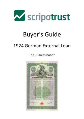 1924 German External Loan - Dawes Bond - Scripotrust Buyer