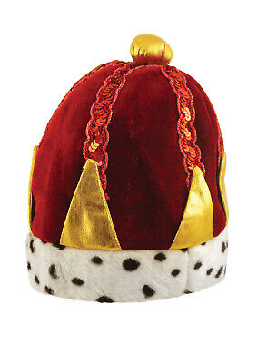 FANCY DRESS PARTY ACCESSORY ROUGE KINGS OF HEARTS CROWN HAT MEDIEVIL HENRY - Medievil Dresses