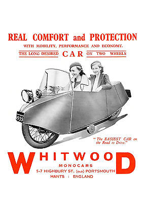 c1935 Whitwood Monocar poster