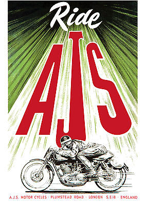 1950's AJS Motorcycles poster