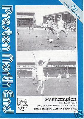 PRESTON NORTH END  V   SOUTHAMPTON   FA CUP  12/2/79