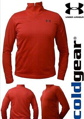 Under Armour ColdGear® Infrared Men's Red Mock Neck 1/4 Zip Top (UAM-34)