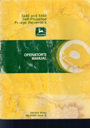 JOHN DEERE 5440 & 5460 Self Propelled Forage Harvesters Operator