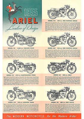 1955 Ariel motorcycle Range poster