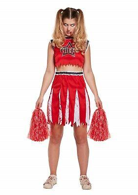 Halloween Zombie Cheerleader Fancy Dress Up Outfit Costume - Cheerleader Kostüm Fancy Dress