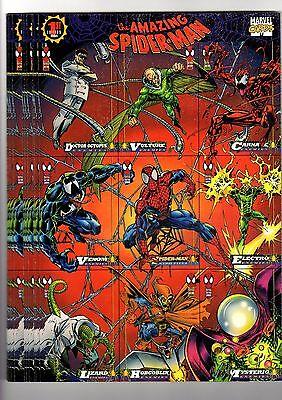 1X 1994 Fleer AMAZING SPIDER MAN PROMO UNCUT SAMPLE SHEET Bulk Lot available