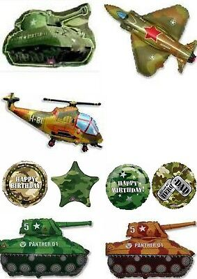 Army Military Camo Camouflage Balloons Party Ware Decoration Novelty Gift Helium (Camo Ballons)