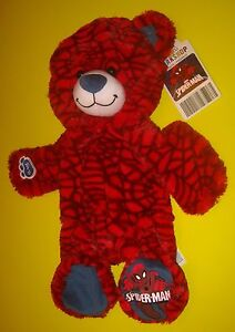New Build-A-Bear UNSTUFFED Red SPIDERMAN SPIDER MAN TEDDY Plush