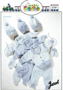 Baby or Doll Vintage Knitting PATTERN - 6 Sizes Premature 12 - 22 Inch Chest. 20