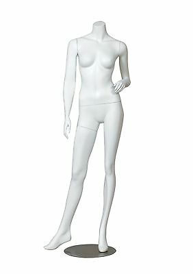 Headless Female Mannequin Adult Fiberglass Display-white Matte Finish-erica2