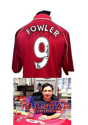 ROBBIE FOWLER SIGNED LIVERPOOL 9 2001 UEFA FINAL FOOTBALL SHIRT WITH COA PROOF