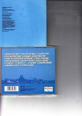 LIGHTNING SEEDS HITS LIKE YOU DO HAND SIGNED SLEEVE BY IAN BROUDIE CD INCLUDED