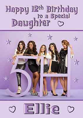 Fifth Harmony personalised A5 birthday card sister niece daughter name age