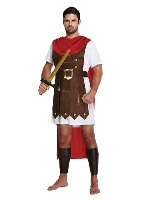 Roman General Fancy Dress Up Outfit Gladiator Crusader Costume Adult Male NEW