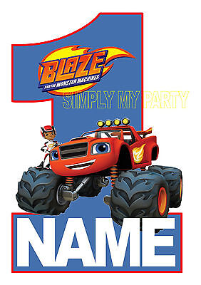 IRON ON TRANSFER or STICKER - BLAZE AND THE MONSTER MACHINES PAW PATROL