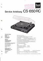 Servicio Manual De Instrucciones Para Dual Cs 650 Rc -  - ebay.es