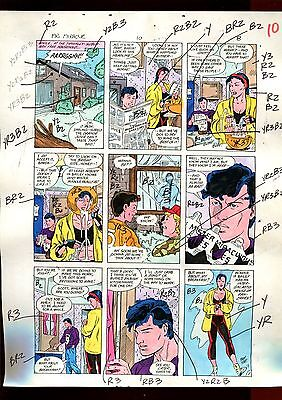 MISTER MIRACLE 10  PAGE 08 COLOR GUIDE-ORIGINAL ART-1 OF A KIND-WEIN-PHILLIPS