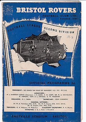 BRISTOL ROVERS V DERBY COUNTY  2ND DIVISION 26/8/57